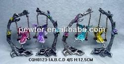 2014 New Pewter Fairy,Fairy Craft,Figurin ,Fairy on swing scupltue