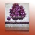 paisagem roxo da árvore moldura pintura para casa