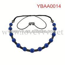 blue lucky alloy diamond station necklace