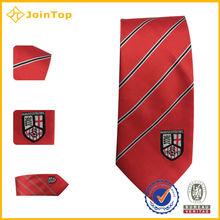 Jacquard Silk Stripe Skinny Tie Neckties Silk