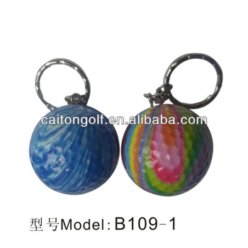Colorful key chain golf ball and can be a gift B109-1