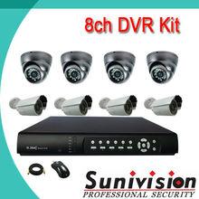 SUNIVISIN Factory! Sony 700tvl Metal 8 channel security cameras 16ch cctv dvr