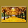 الشهير جودة عاليةاليد التي-- طلاء اللوحة الطبيعية مشهد اللوحة الذهبية-- الأشجار