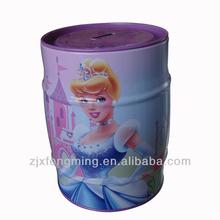 metal tin can Piggy bank Metal box child's fairy tale Princess