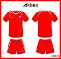 oem personalizado de alta calidad fresco y seco de color rojo camiseta de fútbol