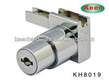 zinc alloy furniture office mailbox drawer lock push type glass lock
