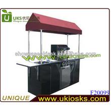 Stainless steel food vending carts mobile coffee cart food van for sale