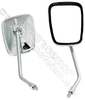 FLYQUICK Chrome Motorcycle part ABS Plating Rearview Mirror for QJ125 and JH150T (ZF001-33)