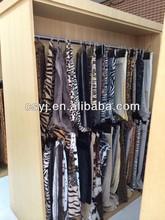 10m plushed short pile/pv 100% polyester leopard print faux fur fabric
