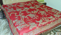 High quality silk wool bed cover made in india