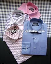 A la moda slim fit hombres de la camisa de algodón camisa de hombre de manga larga de la camisa