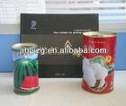 round metal seed storage tin box