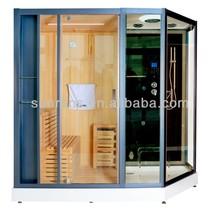 CE,SAA,KC Certificated Sauna Steam Room Sunrans New Fashion Design Steam Sauna Family Use Sauna And Steam Combined Room