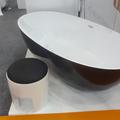 preto no branco pedraartificial superfície sólida banheira tamanhos