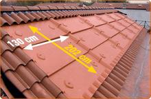 Solar panel base roof tile