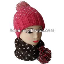 bambini maglia mohair beanie cappello e cappello può diventare una sciarpa