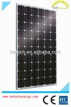 High efficiency Monocrystalline 230w solar panel price per watt with competitive price
