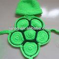 nuovo bambino fatto a mano uncinetto maglia cappello neonato tartaruga tartaruga costume foto prop