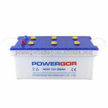 heavy duty truck batteries n200 12v 200ah car battery n200 battery