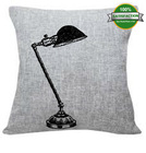 table lamp printed vintage linen cushion covers