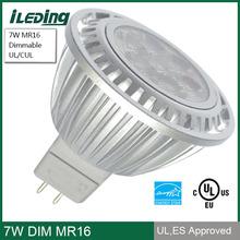 3000K warm white LED Spotlight 12V 7W Dimmable MR16 LED Bulb
