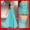 P0908 longo chiffon strapless prom vestidos gothic plus size prom vestido azul plissado
