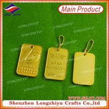 promotion customized metaldog tag art