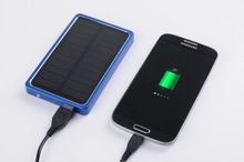 2014 most popular 4000mah portable lipo solar pv cell phone charger for ipad 2