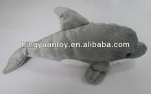 25cm plush toys tiger animal sounds toys sea animal grey dolphin