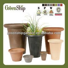 Decorative Garden Round Flower Pots/ UV-protective/ lightweight/ long lifetime/ durable--Green Ship
