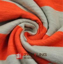 elastic Cotton Slub Single Jersey fabric garment