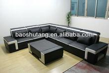 cheap leisure split leather diwan sofa sets f113