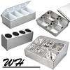 3/4/5/6/8 Grid Plastic stainless steel holder seasoning packaging