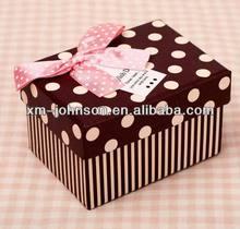 Handmade polka dot gift boxes