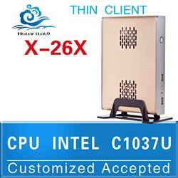 The cheapest!!Computer accessories INTEL C1037U Celeron Dual-core 1.8GHz thin client terminal can run Linux/Ubuntu/window 7