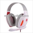 SA808 LED light function USB plug headphones with Microphone