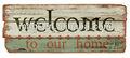 """"""" bienvenido a nuestro hogar"""" shabby mdf placa decorativa"""