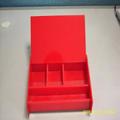 Acrílico maquiagem e cosméticos organizador caixa vermelha estojos de cosméticos