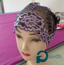 hijab turban lace Scarf tube 2 tone chemo hijab turban cap bonnet