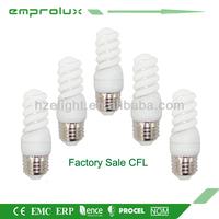 Hangzhou Energy Saving Light T2 Half Spiral 9W Wholesale cfl Bulb Lamp