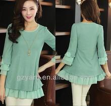 army green chiffon blouse batik
