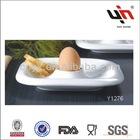 White Porcelain Ceramic Egg Tray