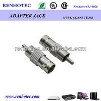 BNC female to rca male connector vga rf adapter