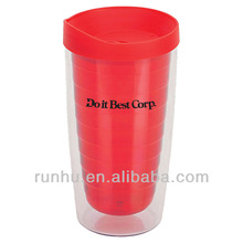double walled thermal unique plastic cups with straw