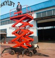 Movable electric hydraulic small scissor trailer lift/car scissor lift