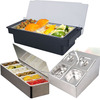 3/4/5/6/8 Grid Plastic stainless steel condiment storage container