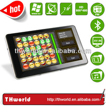 New design super slim electronic guidance system with 7 inch high definition touch screen
