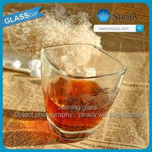 whisky glasses Absolut Vodka Russian glass machine print logo custom chivas square drinking glass