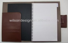 Custom different size&color high quality hardcover PU leather wire bound notebook with bookmark rope