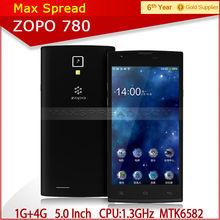 Quad Core ZOPO ZP780 5.0 Inch 960 x 540P QHD screen Android 1GB+4GB mtk smart phone